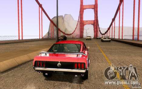 Ford Mustang Boss 302 for GTA San Andreas back view