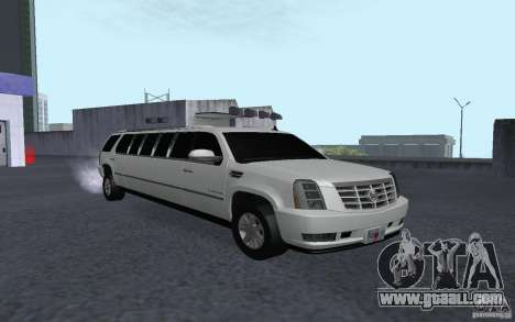 Cadillac Escalade 2008 Limo for GTA San Andreas back left view