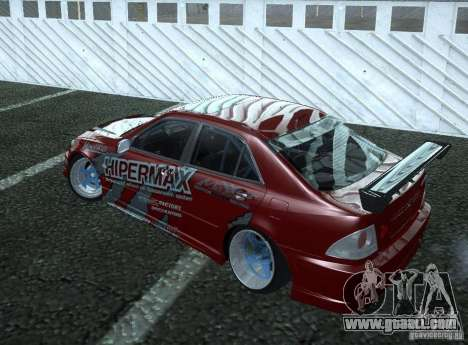 Toyota Altezza Hipermax for GTA San Andreas back left view