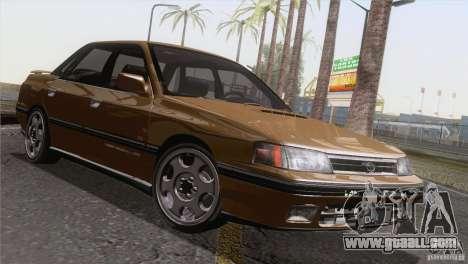 Subaru Legacy RS for GTA San Andreas inner view