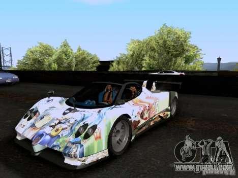Pagani Zonda EX-R for GTA San Andreas inner view