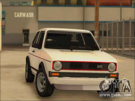 Volkwagen Golf MK1 Stock for GTA San Andreas