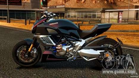 Ducati Diavel Carbon 2011 for GTA 4 left view