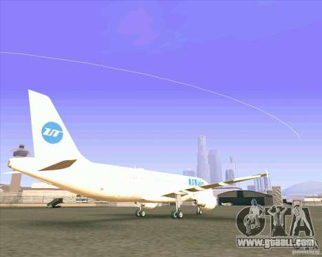 Airbus A-320 airline UTair for GTA San Andreas back left view