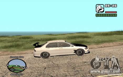 Mitsubishi Lancer Evolution 8 Carbon for GTA San Andreas