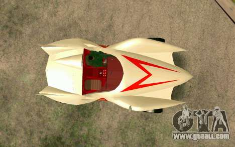 Mach 5 for GTA San Andreas back view