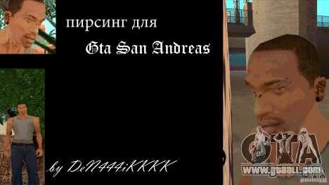 Piercing mod + white CJ for GTA San Andreas