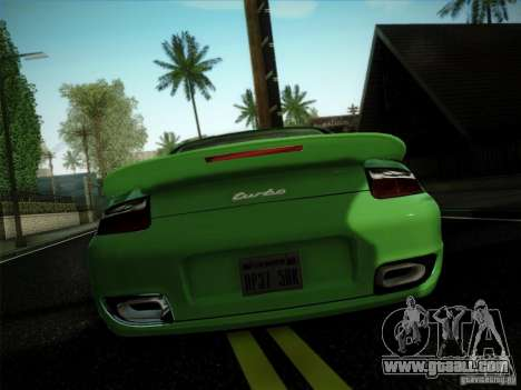 Porsche 911 (997) turbo for GTA San Andreas left view