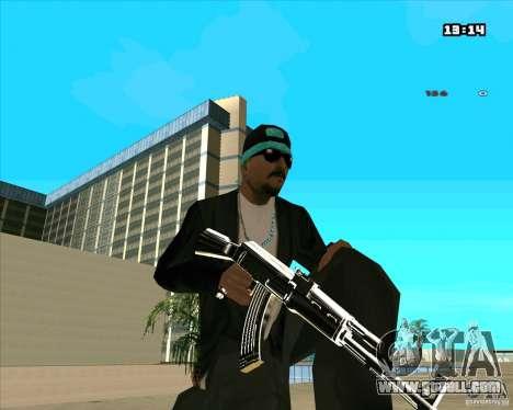 Chrome Weapon Pack for GTA San Andreas ninth screenshot