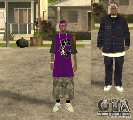 Skinpack Ballas for GTA San Andreas third screenshot