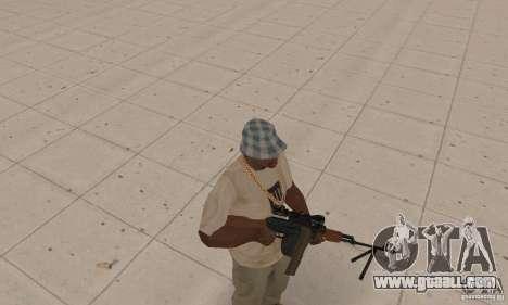 The portable machine gun Kalashnikov for GTA San Andreas second screenshot
