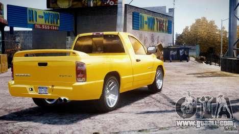 Dodge Ram SRT-10 2003 1.0 for GTA 4 back left view
