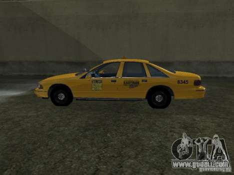 Chevrolet Caprice 1993 Taxi for GTA San Andreas left view