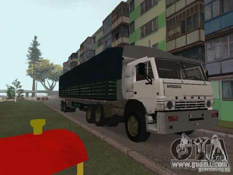 KAMAZ 5410 for GTA San Andreas upper view
