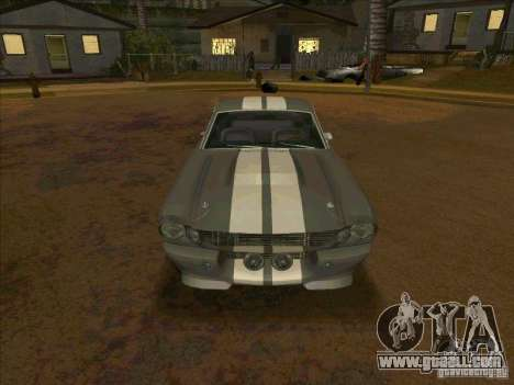 Ford Shelby GT500 Eleanor for GTA San Andreas back view