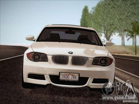 BMW 135i for GTA San Andreas inner view