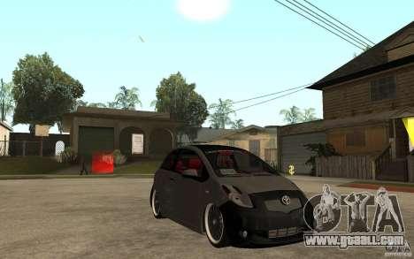 Toyota Yaris II Custom for GTA San Andreas back view