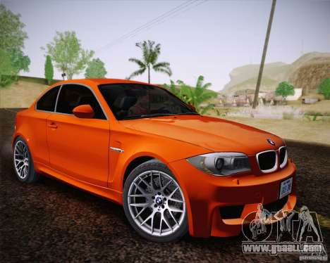 BMW 1M v2 for GTA San Andreas back view