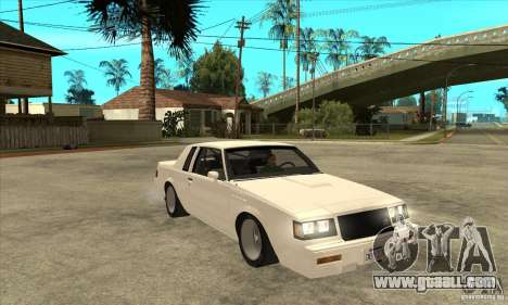 Buick Regal Grand National GNX for GTA San Andreas back view