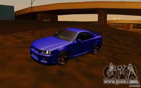 Nissan Skyline R34 GT-R V2 for GTA San Andreas