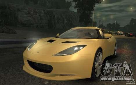 Lotus Evora 2009 for GTA 4 back left view