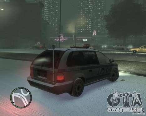 LCPD Minivan for GTA 4 right view