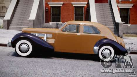 Cord 812 Charged Beverly Sedan 1937 for GTA 4 left view