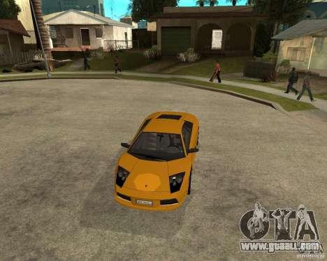 Lamborghini Murcielago for GTA San Andreas back view