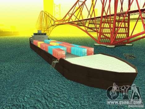 Drivable Cargoship for GTA San Andreas