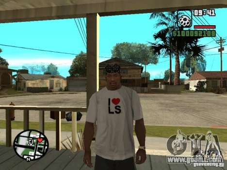 Rammstein t-shirt v2 for GTA San Andreas forth screenshot