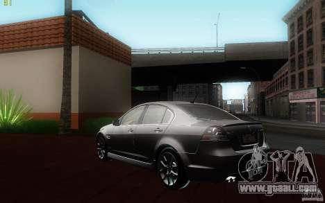 Pontiac G8 GXP 2009 for GTA San Andreas back left view