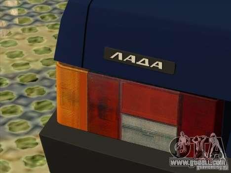 Vaz 2109 Drain V2 for GTA San Andreas back view