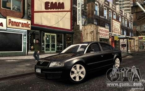 Skoda SuperB for GTA 4 inner view