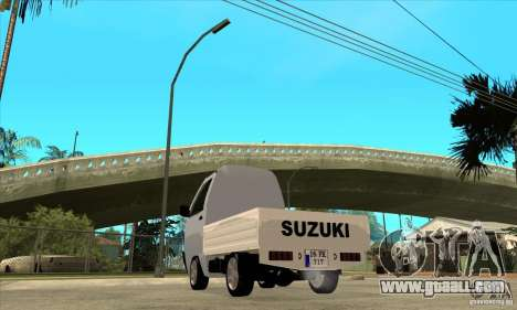 Suzuki Carry Kamyonet for GTA San Andreas back left view
