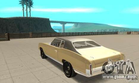 Chevy Monte Carlo [F&F3] for GTA San Andreas back left view