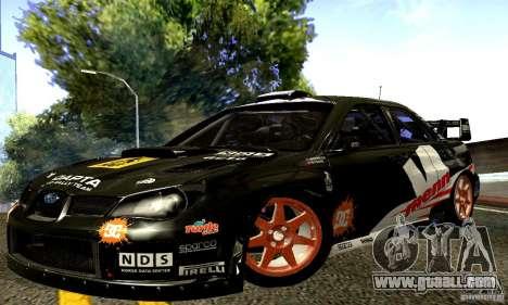 Subaru Impreza WRC 2007 for GTA San Andreas