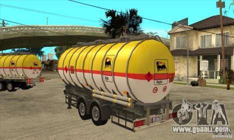 Trailer Tunk for GTA San Andreas back left view