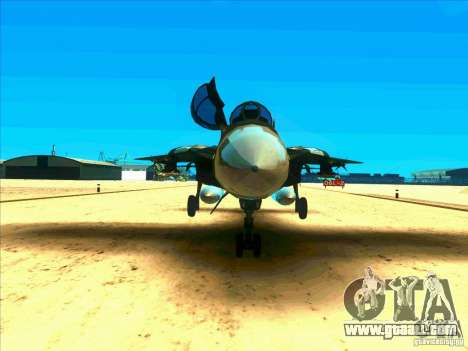 F-14 Tomcat Schnee for GTA San Andreas inner view