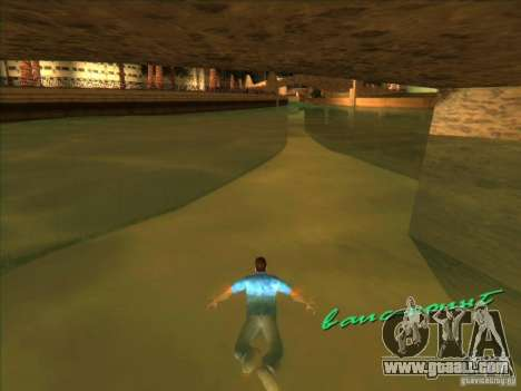 Swimming with the new animation for GTA Vice City