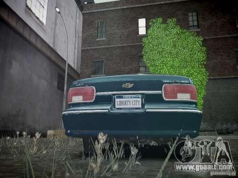 Chevrolet Caprice 1993 Rims 2 for GTA 4 back left view