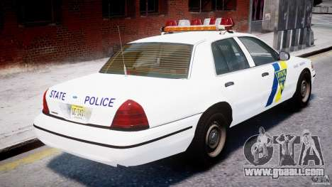 Ford Crown Victoria New Jersey State Police for GTA 4 engine