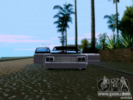 Slamvan Tuned for GTA San Andreas inner view