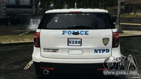 Ford Explorer NYPD ESU 2013 [ELS] for GTA 4 upper view
