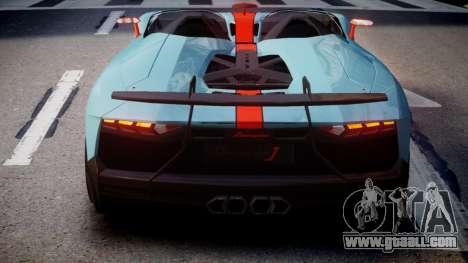 Lamborghini Aventador J 2012 Gulf for GTA 4 back left view