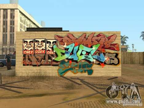 Los Santos City graffiti legends v1 for GTA San Andreas