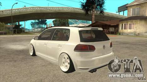 Volkswagen Golf VI 2010 Stance Nation for GTA San Andreas back left view