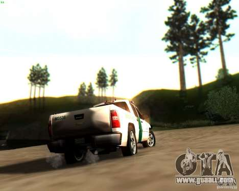 Chevrolet Silverado Police for GTA San Andreas wheels
