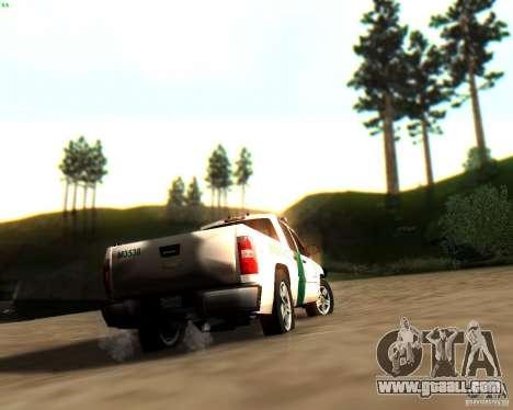Chevrolet Silverado Police for GTA San Andreas wheels