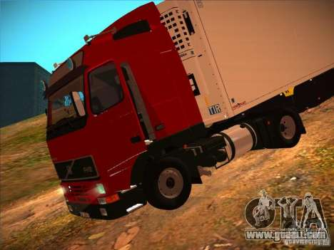 Volvo FH12 for GTA San Andreas inner view