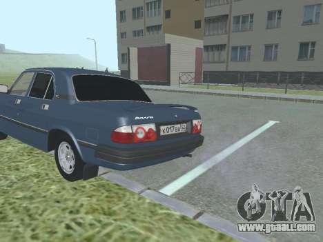 GAZ 3110 Volga v1.0 for GTA San Andreas right view